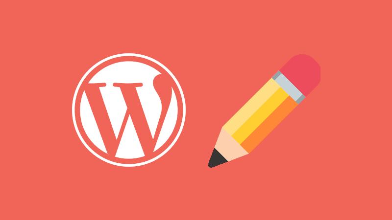 Ajustes de escritura de WordPress