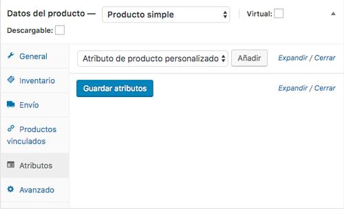 Los atributos te permiten definir características específicas de tu producto