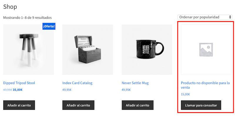 boton-de-llamada-en-productos-sin-venta-de-woocommerce-pagina-tienda