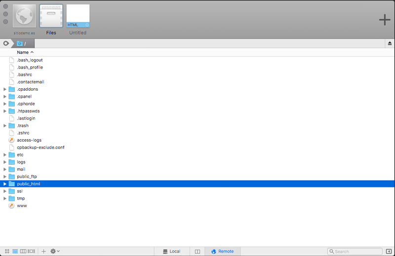La carpeta raíz de tu alojamiento web en una carpeta llamada web, html o public_html.