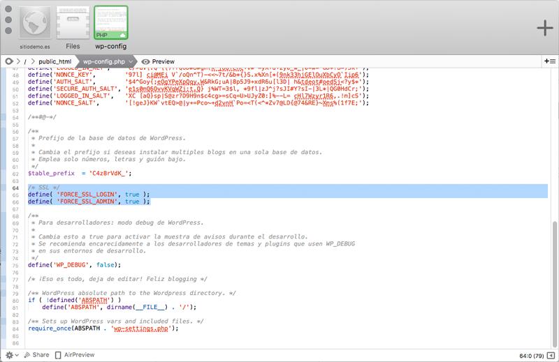 Añade o modifica el código que necesites tecleando en la ventana principal de Coda