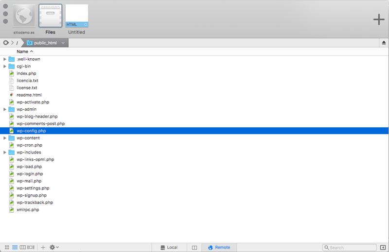 El archivo wp-config.php se encuentra en el directorio raíz de tu alojamiento web