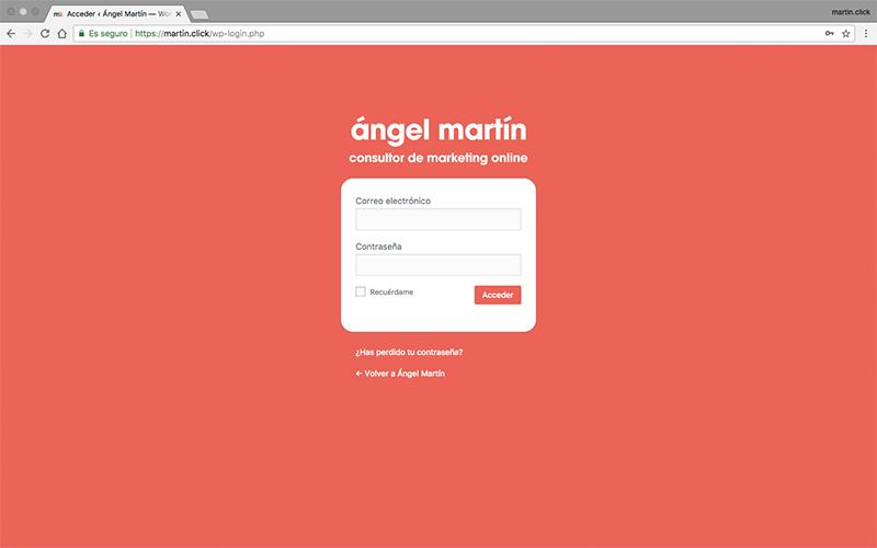 Una vez hayas aplicado los cambios, tu página de login puede tener un aspecto similar a éste