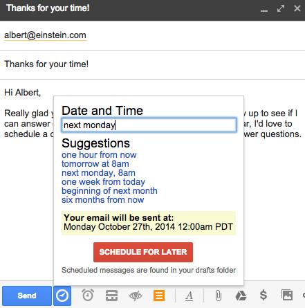 Posponer el envío de tus correos electrónicos es una forma de organizar tu tiempo y mejorar tu productividad