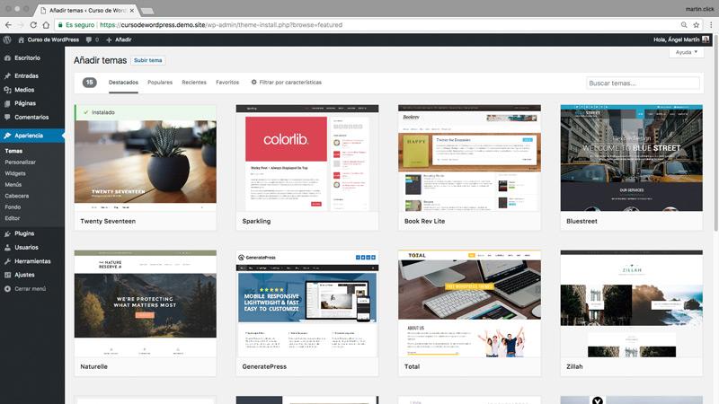 Buscador de temas del repositorio oficial de WordPress