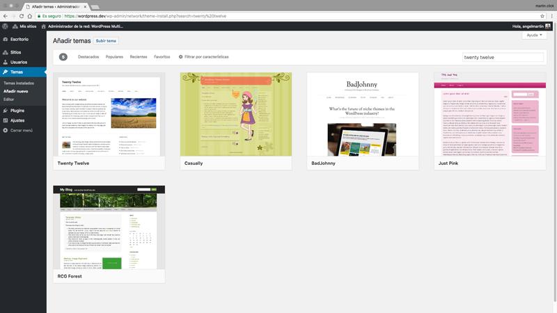Gestión de temas en un WordPress Multisite | Blog de Ángel Martín
