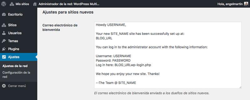 Personaliza el email de bienvenida que reciben tus usuarios a través de esta opción de los Ajustes de la red