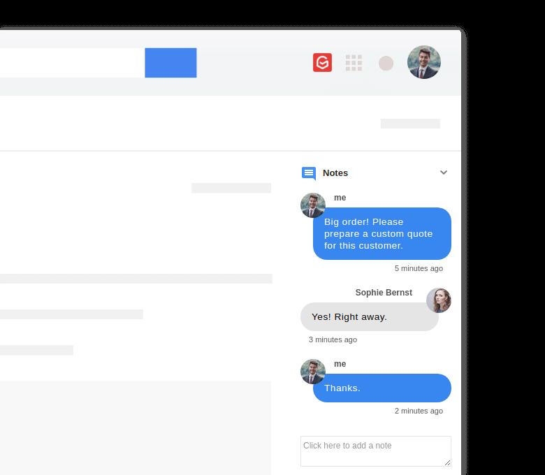 Anota acuerdos, decisiones o pasos en tus correos para tener siempre a mano cada gestión realizada con tus usuarios