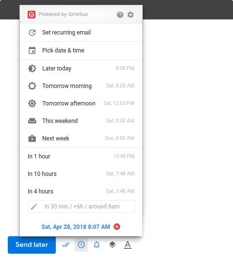 Optimiza tu tiempo programando el envío de tus correos electrónicos.