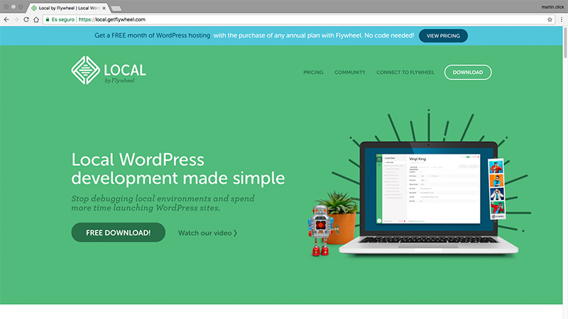 Instalar WordPress en local con Local by Flywheel