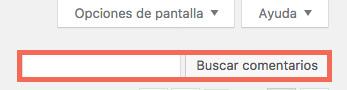 Buscador de comentarios de WordPress