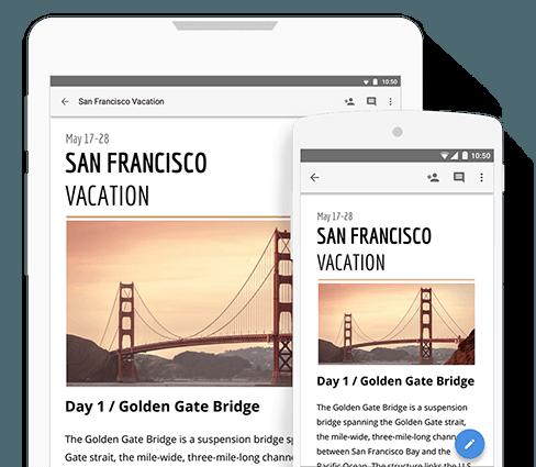 Crea y edita tus documentos desde cualquier dispositivo