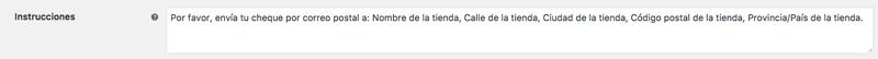 Las instrucciones se muestran en la página de resumen de pedido y en el correo de confirmación de pedido que se envía al usuario