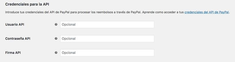 Copia tus credenciales API de PayPal para terminar su configuración en WooCommerce
