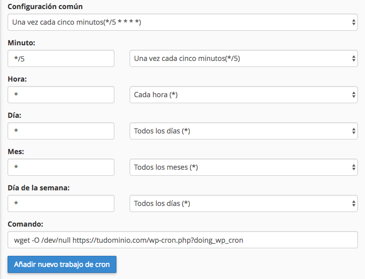Configura tu trabajo de cron para terminar con el error de programación perdida en tu WordPress